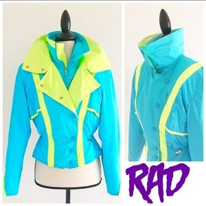 Totally rad 80s/90s neon ski jacket